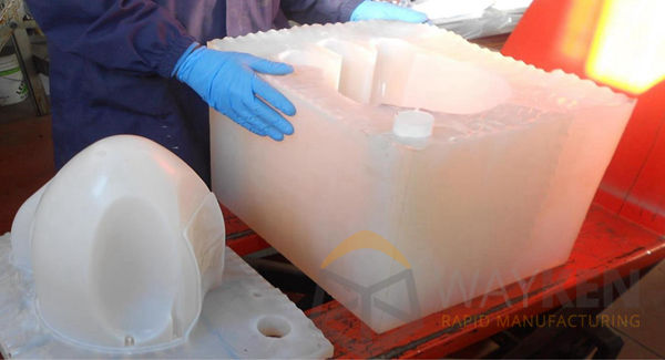 workers are dealing with silicone mold