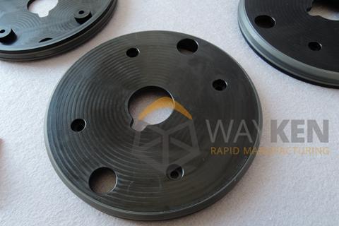 Silicone Overmolding (CNC Nylon + Casting TPE)09